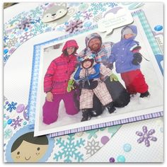 Polar Pals Collection: Winter Layout by Melinda Spinks