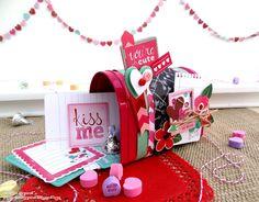 Be Mine Valentine's Day Mailbox Gift by Heather Leopard #americancrafts #valentine