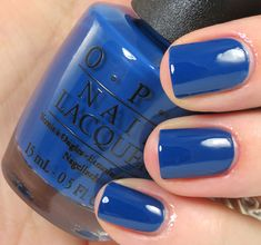 OPI San Francisco Collection Fall/Winter 2013 Keeping Suzi at Bay — bright navy cream Opi Nail Polish, Opi Nails, Manicure, Nail Polishes, Mani Pedi, Great Nails, Perfect Nails, Opi Nail Colors, Sparkle Nails