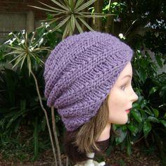 Hand Knit Spiral Slouchy Hat. Beanie Fingerless Gloves Knitted, Knitted Hats, Crochet Hats, Slouchy Hat, Knit Beanie, Spiral Pattern, Hand Warmers, Hand Knitting, Handmade
