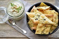 Ab oVo. Blog di ricette italiane e dal mondo: Sfogliette croccanti con dip di carciofi e pinoli