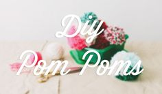 Use up all of those yarn leftovers with these DIY Pom Poms! A brightly-colored wreath and garland are just the right bit of quirkiness for the holidays, inspired by the Diy For Kids, Crafts For Kids, Creative Crafts, Diy Crafts, Craft Tutorials, Craft Ideas, Knitting Looms, Christmas Crafts, Christmas Tree