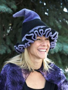 Witch or Wizard Hats | Yarn | Free Knitting Patterns | Crochet Patterns | Yarnspirations (SORTING HAT!)
