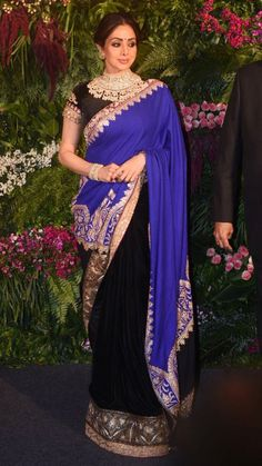 Mumbai: Virat Kohli Anushka Sharma& wedding reception Sridevi - Social News XYZ Actress Priyanka Chopra, Bollywood Actress, Anushka Sharma Virat Kohli, Bollywood Masala, Pretty Star, Black Saree, Celebrity Look, Saree Styles, Cannes Film Festival
