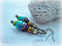 Boho Earrings / Boho Jewelry / Boho Turquoise by HandcraftedYoga