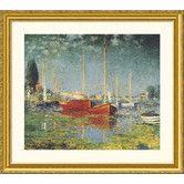 Argenteuil Gold Framed Print - Claude Monet