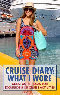 Style advice for every adventure and activity on your cruise. Cruise Tips, Cruise Travel, Cruise Vacation, Disney Cruise, Vacation Packing, Vacations, Cruise Outfits, Cruise Wear, Vacation Outfits