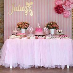 Ballerina Baby Showers, Baby Girl Shower Themes, Girl Baby Shower Decorations, 1st Birthday Cake For Girls, Ballerina Birthday Parties, Princess Birthday, Ballerina Party Decorations, Birthday Party Decorations, Baby Shower Desserts
