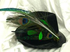 LIGHT UP Peacock Feather Hair or Hat Clip by LoveJoyAdornments, $29.00