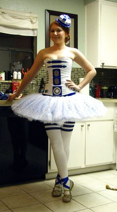 Cute - tutu - Star Wars The Ballet Perhaps Costume Halloween, R2d2 Costume, Costume Star Wars, Star Wars Dress, Fete Halloween, Costume Dress, Halloween 2013, Halloween Ideas, Happy Halloween
