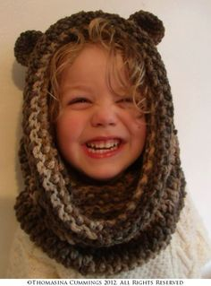 Bear Snood Crochet Pattern @Mindy Burton Layman i might need one of these for O when she's older!