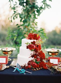 Wedding Cake Colorful Elegant San Ysidro Ranch Wedding