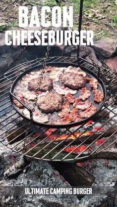 Ultimate Bacon Cheeseburger, Campfire Style cooking tips . - Ultimate Bacon Cheeseburger, Campfire Style cooking tips cooking tips - Grilling Tips, Grilling Recipes, Steak Recipes, Pizza Recipes, Outdoor Cooking Recipes, Cooking Tips, Cooking Videos, Cooking For Beginners, Beginner Cooking