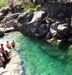 This is Geres, Portugal, but we have plenty of places in the states I could do this...if I'd just work up the nerve. One for the bucket list.