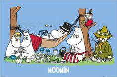 Moomins - Picnic - Comicposter
