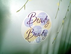 Custom - The love of beauty is taste, the creation of beauty is ART #uppercaseliving #art #homedecor #vinyl #inspiration #wallwords #decals #beckymasson