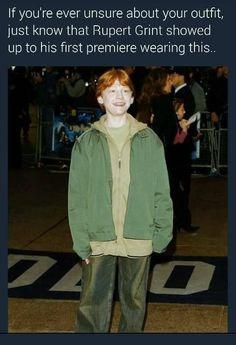 Imagem de funny, harry potter, and rupert grint First Harry Potter, Harry Potter Jokes, Harry Potter Cast, Harry Potter Universal, Harry Potter Fandom, Hogwarts, Funny Memes, Hilarious, Books