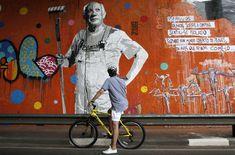 El mural más grande de América Latina está en Brasil: 15.000 metros cuadrados de pintura, repartidos en 70 muros da Avenida 23 de Mayo