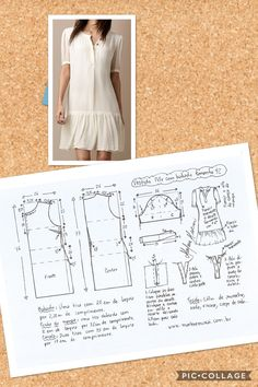 Photo from album T Shirt Sewing Pattern, Pattern Drafting, Dress Sewing Patterns, Sewing Patterns Free, Clothing Patterns, Sewing Tutorials, Pattern Dress, Sewing Blouses, Techniques Couture