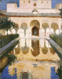 Joaquín Sorolla y Bastida, La Alhambra, Granada, España, 1909  Oil on canvas