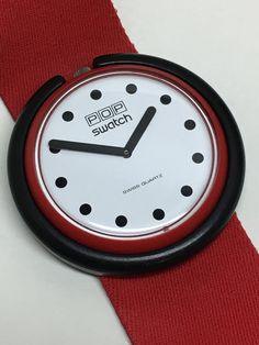 Vintage Pop Swatch Watch Fire Signal BR001 1986 by ThatIsSoFunny
