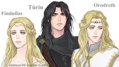 Finduilas,Turin and Orodreth by D39