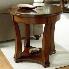 Have to have it. Hammary Decatur Round End Table - Russet Brown - $225 @hayneedle