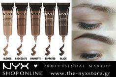 Τονίστε τα χαρακτηριστικά του προσώπου σας με το σωστό σχήμα φρυδιών! Με το NYX Eyebrow Gel μπορείτε να γεμίσετε τυχόν κενά ή και να δώσετε ένα νέο σχήμα! Έχει τρομερή απόδοση χρώματος, είναι αδιάβροχο και μόλις στεγνώσει μένει σταθερό όλη μέρα χωρίς να μουτζουρώνεται! Ανακαλύψτε τις 5 αποχρώσεις στο e-shop μας: http://bit.ly/1XGZtRS
