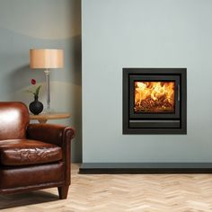 The Riva wood burning and multi-fuel inset fire is the latest addition to the impressive Riva™ range. Inset Fireplace, Fireplace Built Ins, Modern Fireplace, Fireplace Surrounds, Inset Electric Fires, Insert Stove, Chimney Breast, Contemporary Frames, Traditional Fireplace