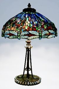 A dragonfly lamp by Louis Comfort Tiffany. 'A New Light on Tiffany: Clara Driscoll and the Tiffany Girls,' is currently on view at the New York Historical Society.