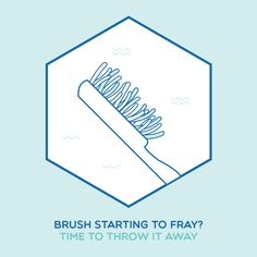 BRUSHING BASICS: Frayed bristles don't clean as well! Replace your toothbrush about every three months.