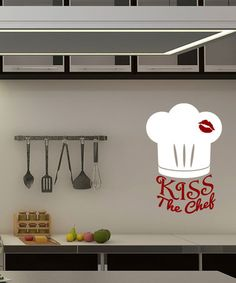'Kiss the Chef' Decal - Vinyl decal ( could make with circuit machine