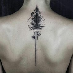 Tree Tattoo Back pine tattoo by Gavor Zolyomi tattoos on back on back for men Tree Sleeve Tattoo, Tree Tattoo Back, Pine Tree Tattoo, Sleeve Tattoos, Willow Tree Tattoos, Tattoo Son, Tattoo Life, Raven Tattoo, Forest Tattoos