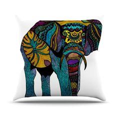 KESS InHouse Elephant of Namibia Throw Pillow