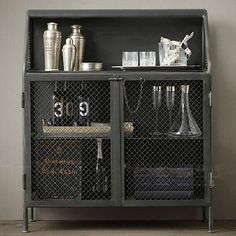 industrial loft-style wrought iron sideboard cabinet storage cabinets retro to do the old metal cabinet