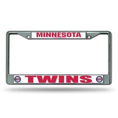 Minnesota Twins MLB Chrome License Plate Frame