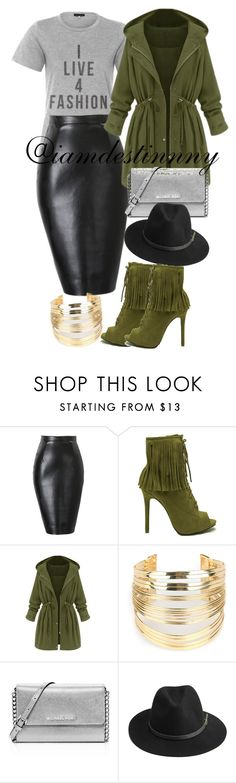 """""""Untitled #79"""" by iamdestinnny ❤ liked on Polyvore featuring WithChic, MICHAEL Michael Kors and BeckSöndergaard"""