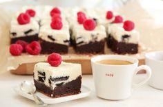 Brownie med oreokrem