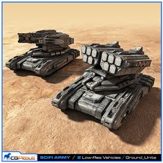 Scifi Army Ground Units 3D Max - 3D Model