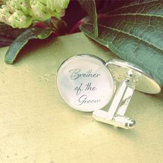 Brother of the Groom Groomsmen Cuff Links by OverTheMoonBridal