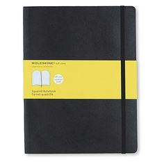 9. Notebook. MOLESKINE Extra large soft cover squared notebook