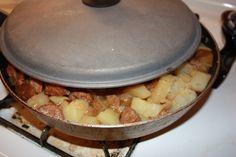 Smothered Potatoes and Sausage!