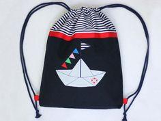 Rucksack maritim Turnbeutel Kindergarten von TURO - made by me auf DaWanda.com