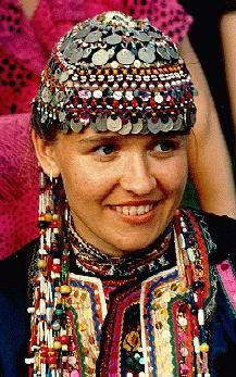 Russia | Mari Woman from Orenburg in the southern Ural Mountains | Photographer ?