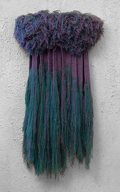 Purple and teal tapestry weaving loom weaving weaving wall hanging textile art Art Fibres Textiles, Textile Fiber Art, Weaving Textiles, Weaving Art, Loom Weaving, Tapestry Weaving, Hand Weaving, Teal Tapestry, 3d Wall Art