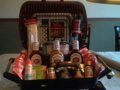 Design of Raffle Basket Ideas for Fundraiser - Utility Collective Fundraiser Baskets, Raffle Baskets, Bbq Gifts, Grilling Gifts, Themed Gift Baskets, Diy Gift Baskets, Fundraising Events, Fundraising Ideas, Silent Auction Baskets