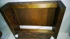 Handmade Wooden Wine Rack Holds Five Bottles by WoodandMetalshop