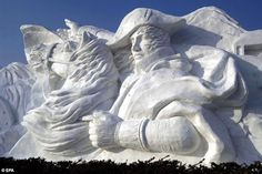 .snow sculpture