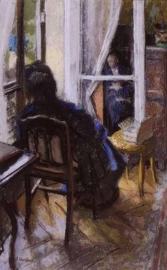 Édouard VUILLARD (1868-1940), Au coin de la fenêtre, 1915, huile sur toile, 70 x 54 cm. © MuMa Le Havre / Charles Maslard