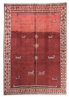 Gabbeh  Teppiche  Moderno Tappeto Alfombra 238 x 193 cm Carpet perserteppich